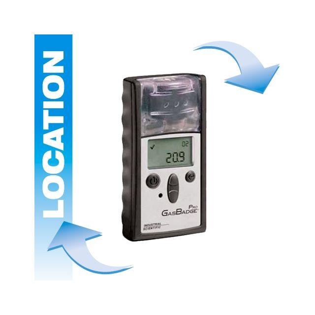 Location détecteur de gaz portable Gasbadge® Pro de Industrial Scientific