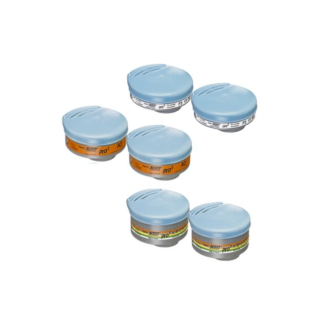 Filtres à baïonnettes PRO2 pour masques SCOTT Profile2, Profile60 & Promask2