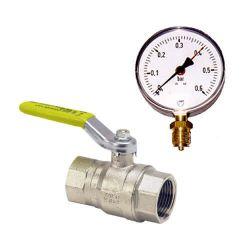 Accessoires lignes AIR/GAZ - Vannes de barrage (classiques ou cadenassables) & manomètres