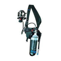 Appareil respiratoire isolant pour interventions de courte durée PAS Colt de Dräger avec inverseur automatique et connexion d'adduction d'air