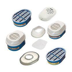 Filtre à baïonnette de la gamme X-plore® pour masques gaz bi-filtres de Drager