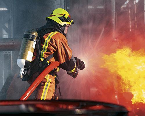 Protection respiratoire ARI pompier de Dräger