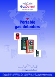 Portable gas detectors catalog GazDetect