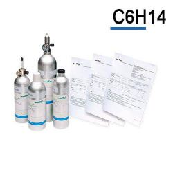 Bouteille gaz étalon Hexane C6H14 de Air Products