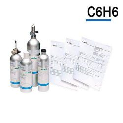 Bouteille gaz étalon Benzène, gaz de calibration C6H6 de Air Products