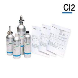 Bouteille gaz étalon Chlore Cl2 de Air Products
