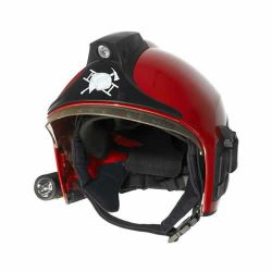 Casque pompier rouge HPS 7000 Drager